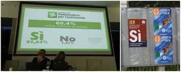 Deux référendums ont eu lieu dimanche 22 octobre en Lombardie et en Vénétie, dans le nord de l'Italie actuelle où les électeurs…