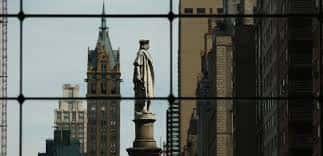 La statue de Christophe Colomb à New York.