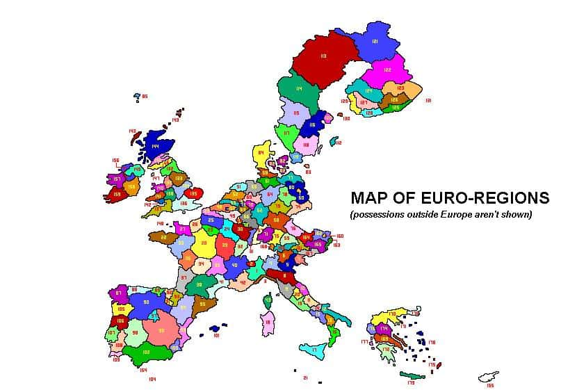 carte euro regions
