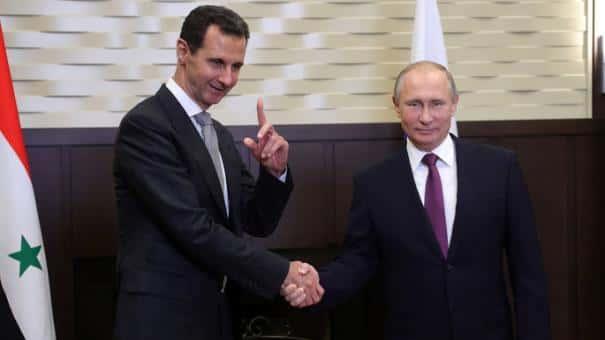 Bachar el-Assad et Vladimir Poutine.