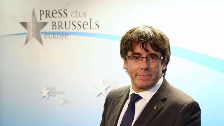 Carles Puigdemont  « réfugié» à Bruxelles.