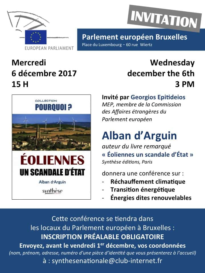 Conference Bruxelles Alban Arguin