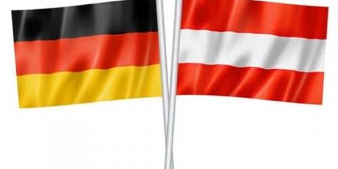 Drapeaux Allemagne et Autriche