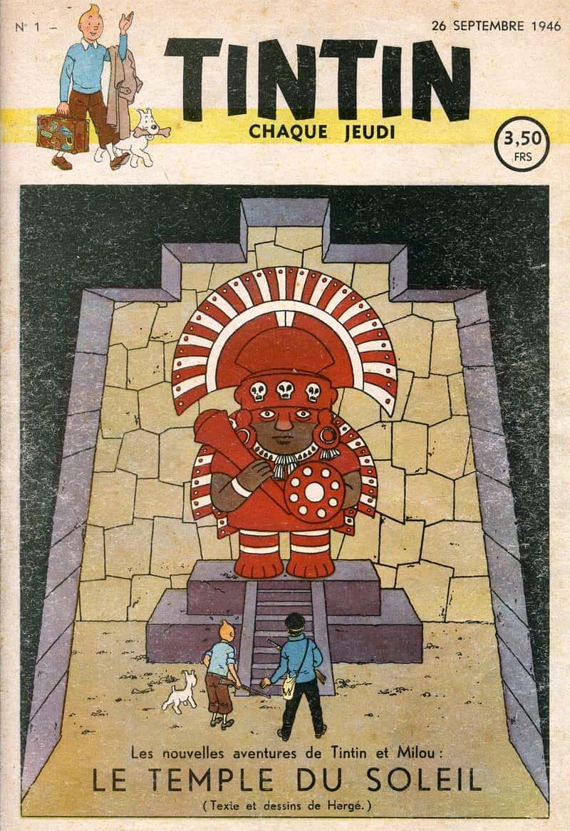 Couverture du premier numéro de l'hebdomadaire Tintin.