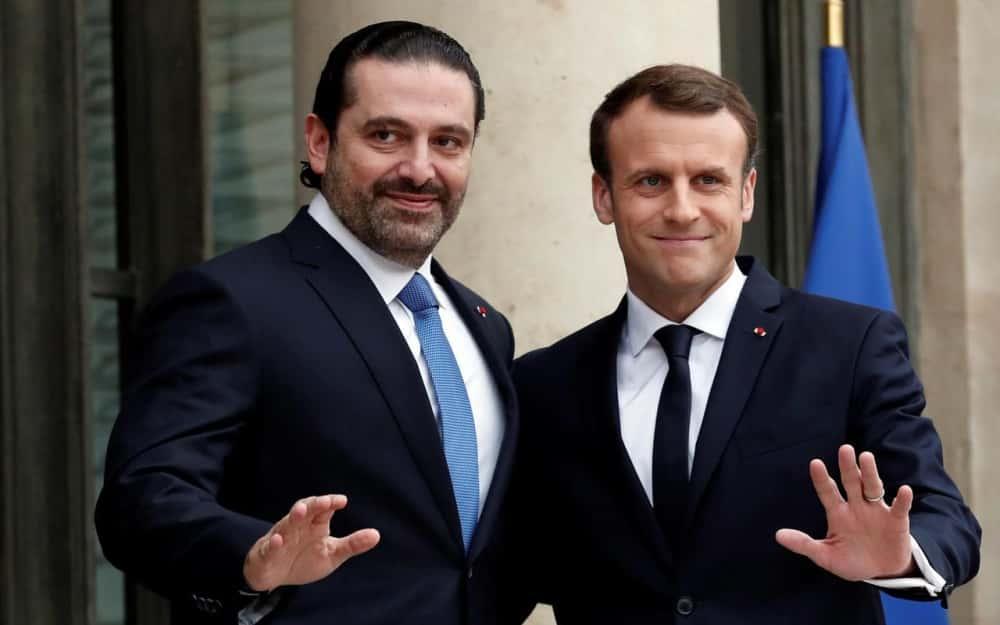 Saad Hariri et Emmanuel Macron.