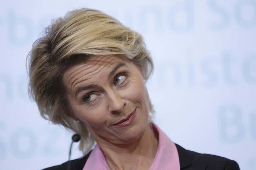 Ursula von der Leyen, Ministre fédérale allemande de la Défense.