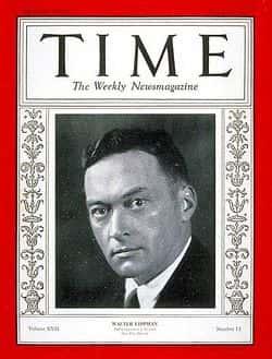 Walter Lippmann, né le 23 septembre 1889 à New York aux États-Unis et mort le 14 décembre 1974 .