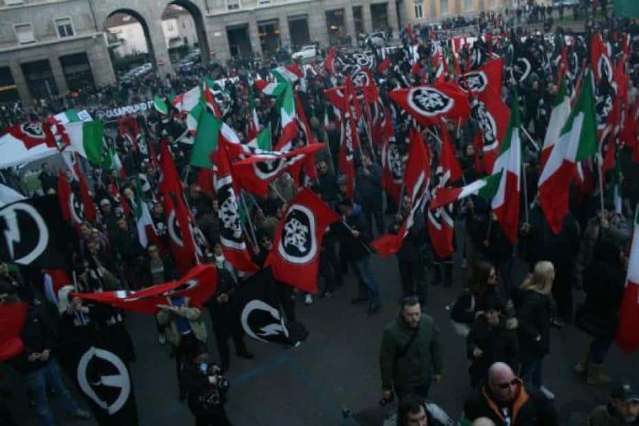 Manifestation de Casapound Italia.