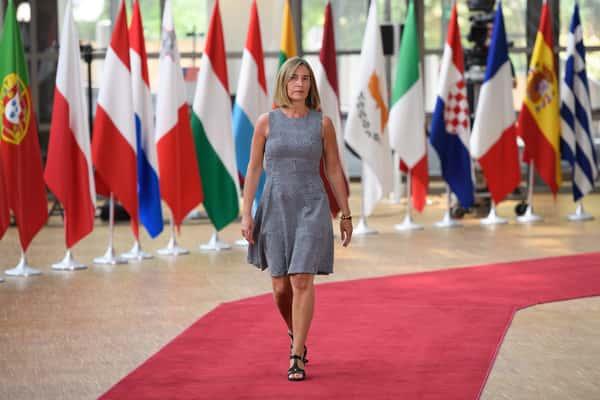 Federica Mogherini, haute représentante pour les affaires étrangères et la politique de sécurité de l'UE.
