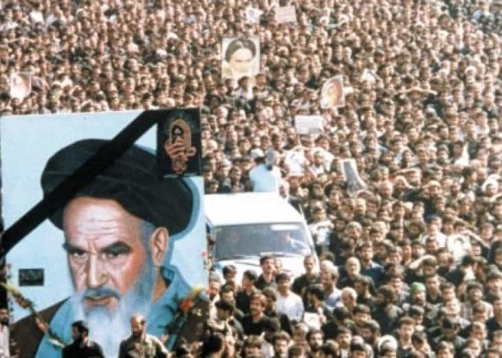 Funerailles de l'ayatollah Khomeini.