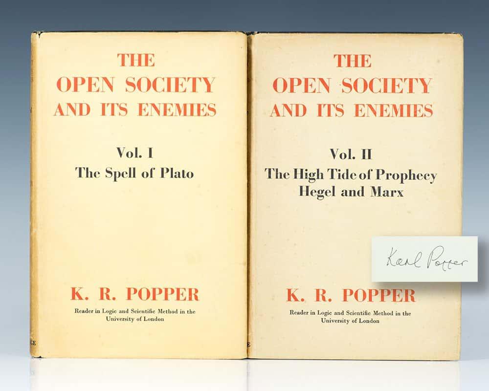 La société ouverte et ses ennemis de Karl Popper.