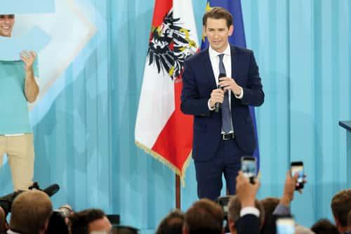 Avec Sebastian Kurz, chef de l'ÖVP, vers une grande coalition des droites..