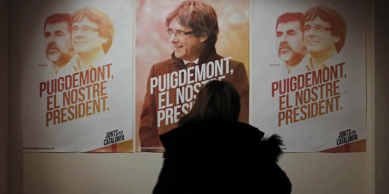 affiche Carles Puigdemont