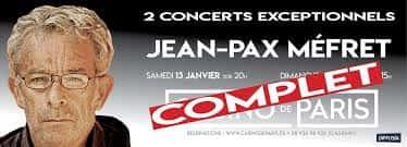 Jean-Pax Méfret au Casino de Paris.
