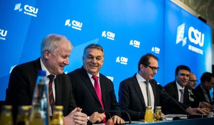 Viktor Orbán en visite en Bavière.