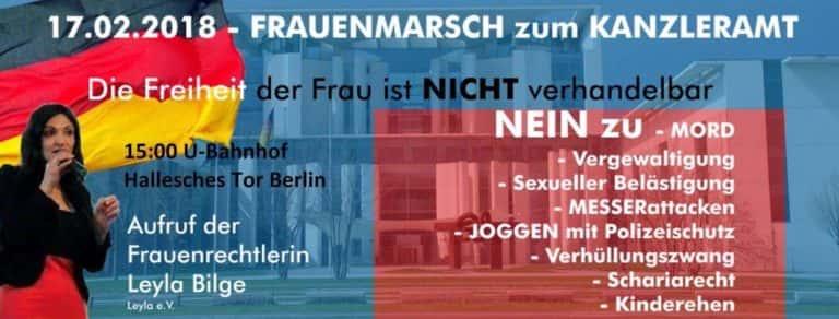 Affiche de la marche du 17 février.