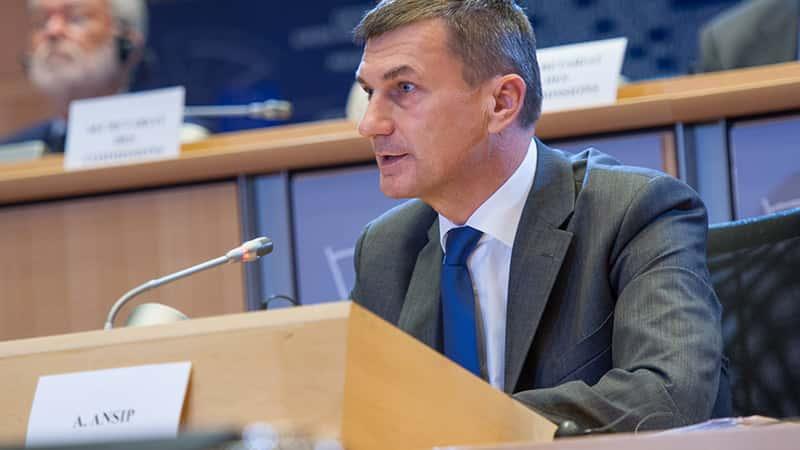 Andrus Ansip, Vice-président de la Commission européenne.