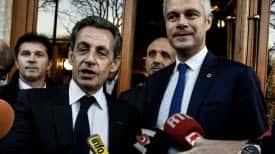Laurent Wauquiez et Nicolas Sarkozy en décembre 2017 à Lyon.