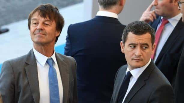 Nicolas Hulot et Gérald Darmanin.