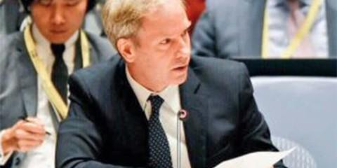 Olof Skoog au nom de la Suède doit présenter lundi un projet de résolution demandant une trêve en Syrie (crédit : RP Onu Suède).