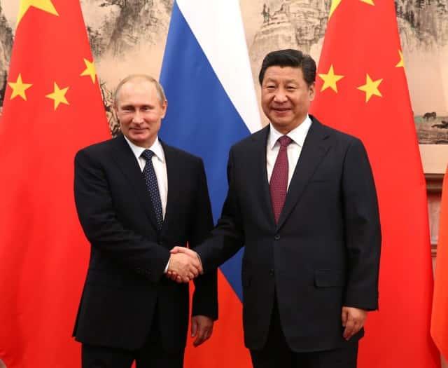 Vladimir Poutine et Xi Jinping.
