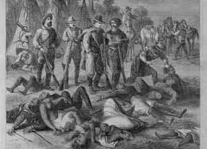 Le génocide tranquille et presque achevé des Indiens d'Amérique.
