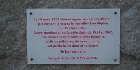 Frontignan memorial 1962