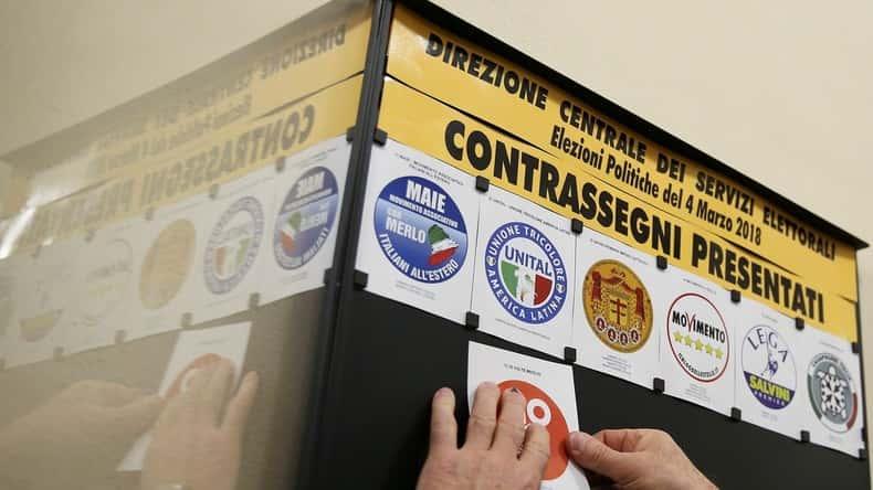 Législatives mars 2018 en Italie.