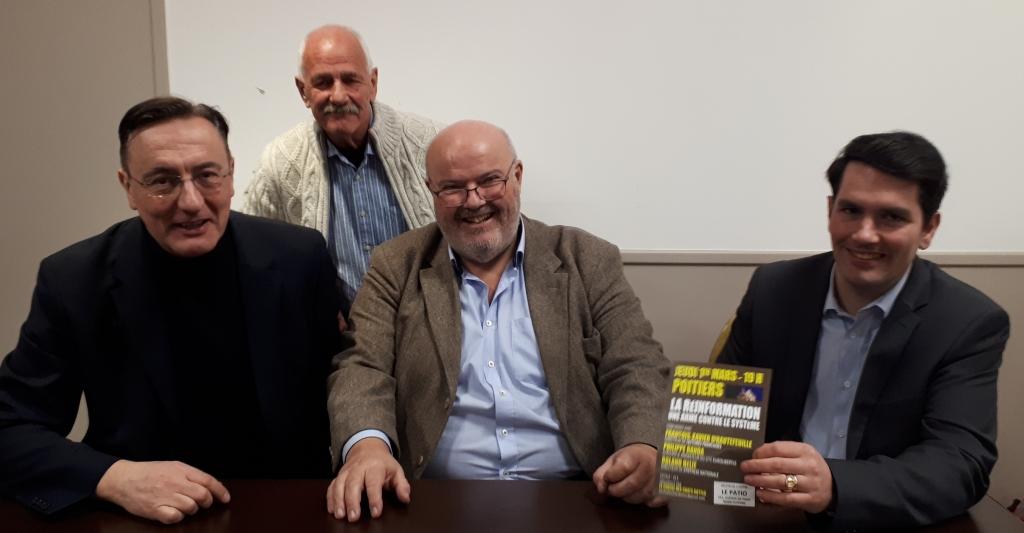 Philippe Randa, Jacques Soulis, Roland Hélie et François-Xavier d'Hautefeuille