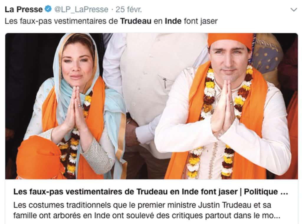 Trudeau en Inde