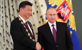 Xi Jinping et Vladimir Poutine.