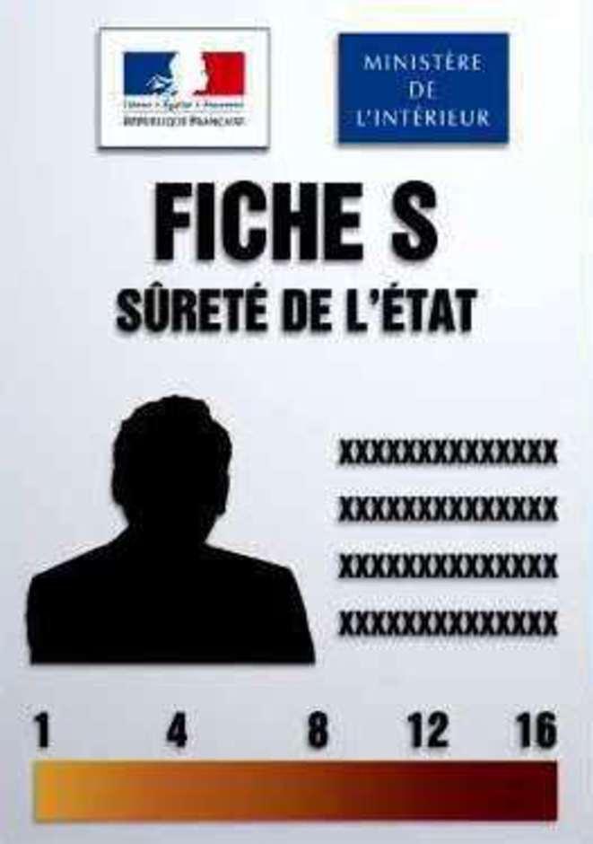 Fiche S en logo © Ministère de l'Intérieur (France)