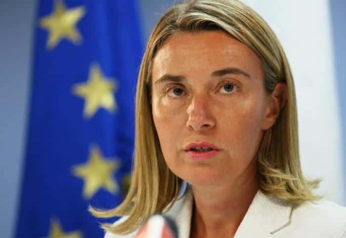 La députée italienne Frederica Mogherini.
