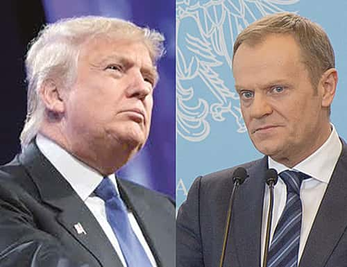 Donald Trump et Donald Tusk.