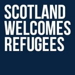 Ecosse Welcome refugiés.