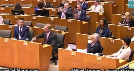 Nigel Farage au parlement européen