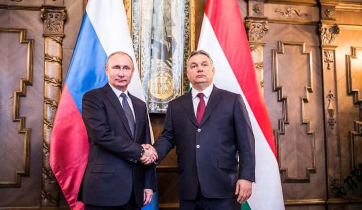 Viktor Orbán et Wladimir Poutine.