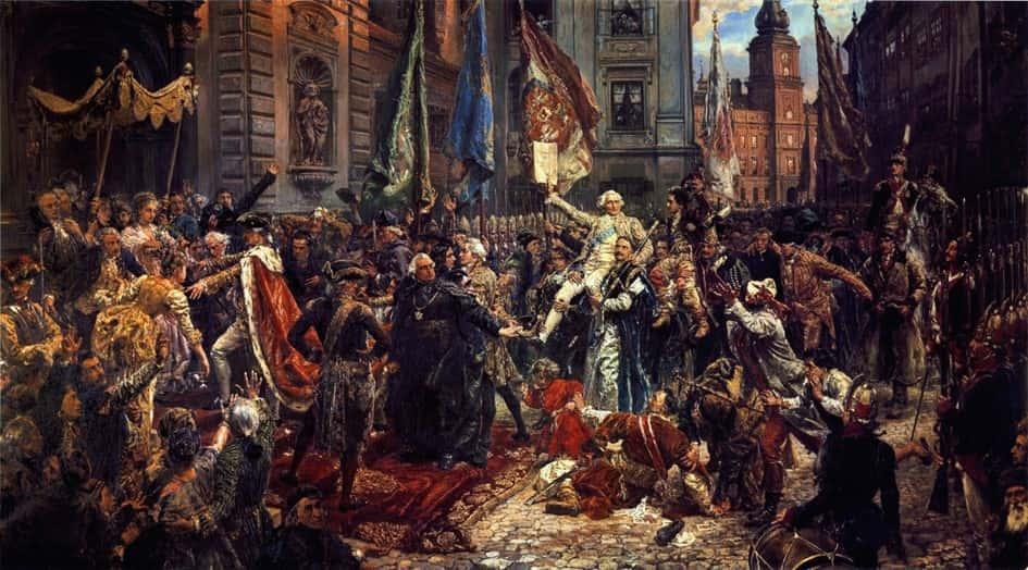 Proclamation de la Constitution polonaise du 3 mai 1791, par Jan Matejko.