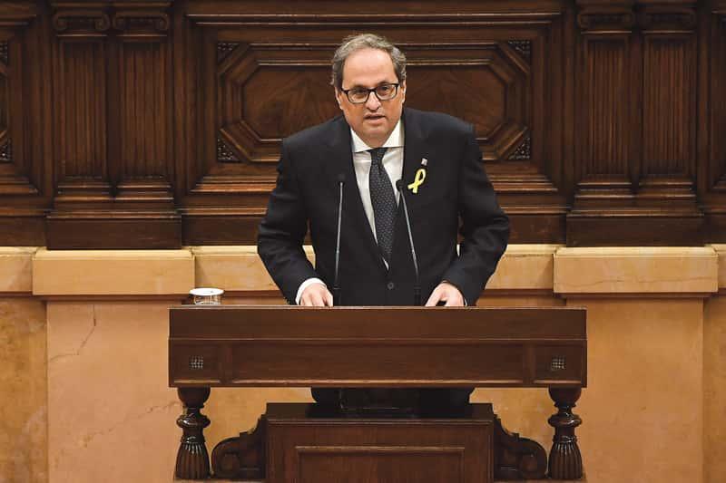 Quim Torra, nouveau chef du parlement de Catalogne, est un enragé hispanophobe.