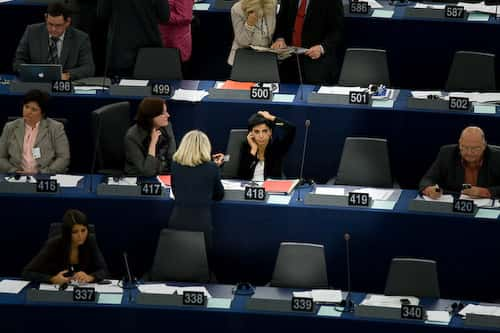 Rachida Dati au Parlement européen.