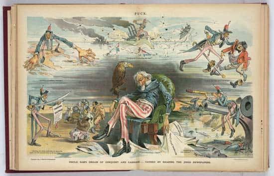 Image créée par Udo J. Kepler pour Puck Magazine en 1895.