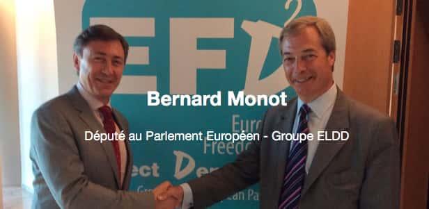 Bernard Monot et Nigel Farage