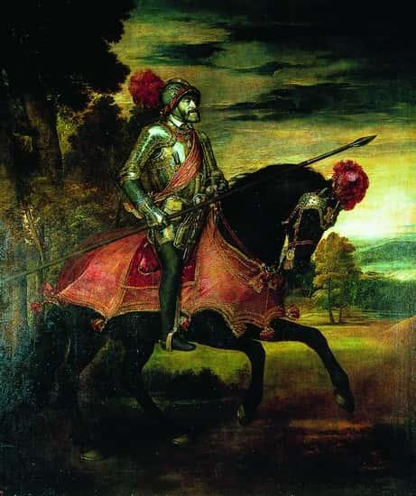 Charles Quint à la bataille de Mühlberg (Titien).