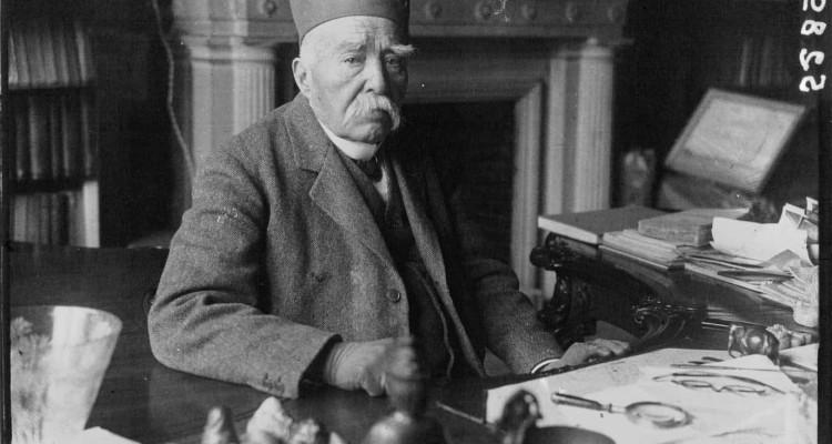 Georges Clémenceau chez lui (portrait).