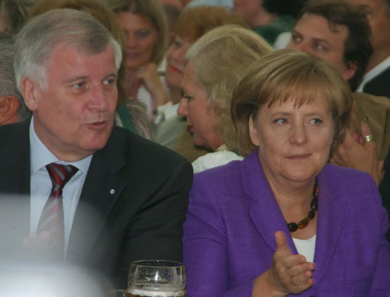 Horst Seehofer et Angela Merkel.