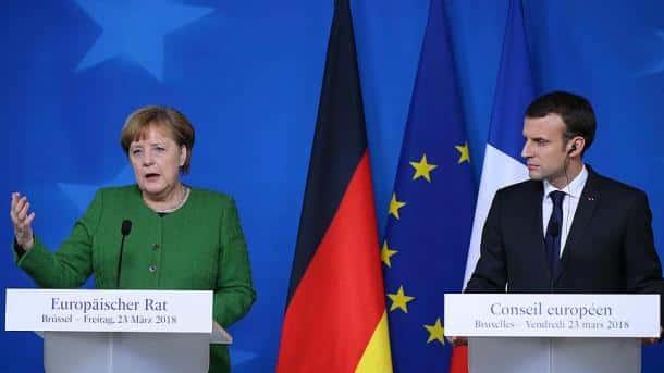 Merkel et Macron au château de Meseberg.