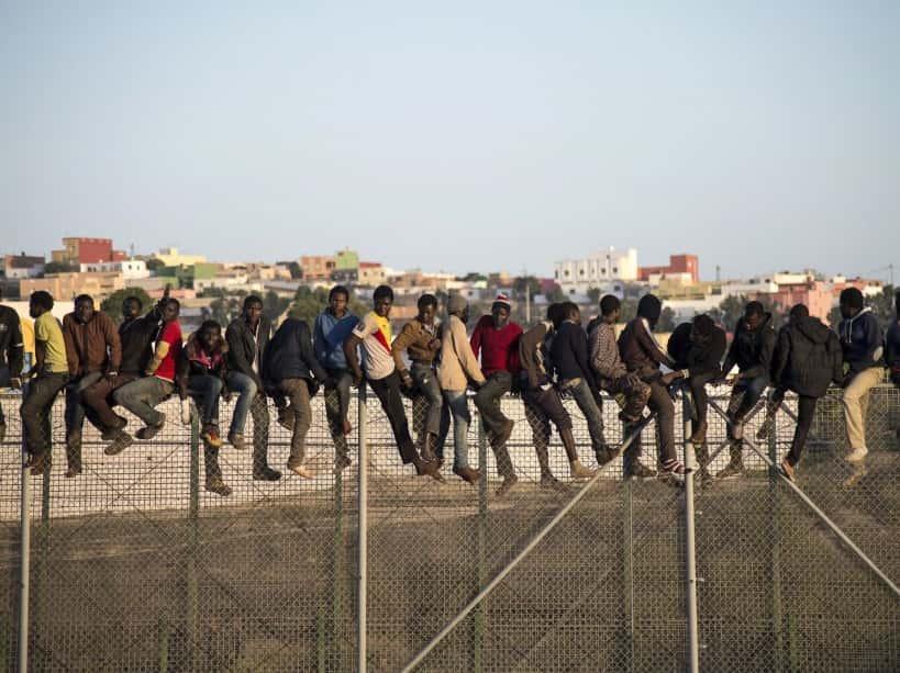 Migrants originaires de l'Afrique subsaharienne.