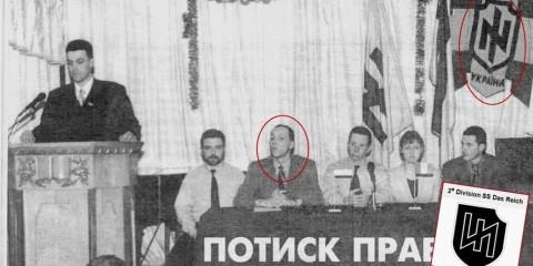Andry Parouby, fondateur du Parti social-nationaliste d'Ukraine.