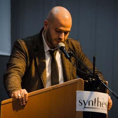 """Vincent Vauclin lors d'une Journée organisée par la revue """"Synthèse nationale""""."""