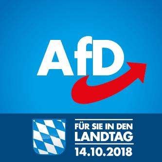 AfD. Pour vous au Parlement de l'État [de Bavière]. Le 14octobre 2018.